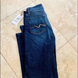 7 For All Mankind Kimmie Dark Straight Jean